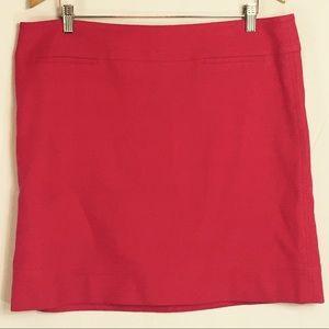 Talbots Women's Red Pink Knee Length Skirt Size 16